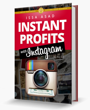Issa Asad Instant profits with Instagram book cover